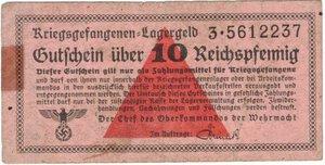 obverse: Banconote. Estere. Germania. Seconda guerra mondiale. Biglietto campo di concentramento. 50 Reichpfennig. BB. Riparazione.