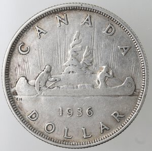 reverse: Canada.George V. 1910-1936.Dollaro 1936.Ag.