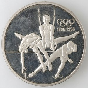 reverse: Canada.Elisabetta II.15 Dollari 1992. Ginnastica. AG 925.