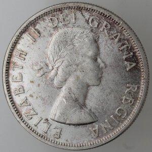 obverse: Canada.Elisabetta II.Dollaro 1959. AG 800.