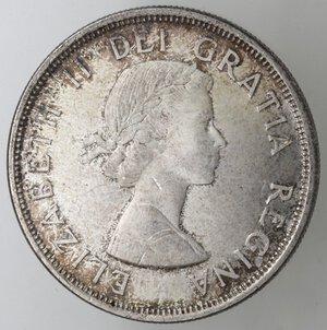 obverse: Canada. Elisabetta II. Dollaro 1964 Charlottetown. Ag 800.
