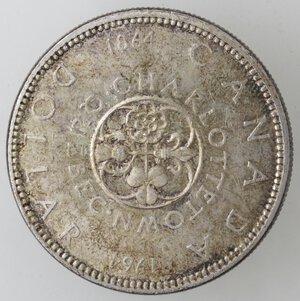 reverse: Canada. Elisabetta II. Dollaro 1964 Charlottetown. Ag 800.