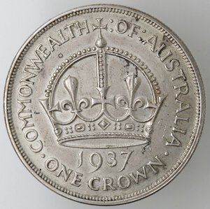reverse: Australia. Giorgio VI. 1 Corona 1937. 1936-1952. Ag 925.