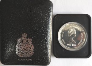 obverse: Canada. Elisabetta II. Dollaro 1977 Giubileo d argento. Ag 500.