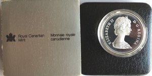 obverse: Canada. Elisabetta II. Dollaro 1981 Locomotiva. Ag 500.