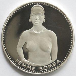 reverse: Dahomey. 1.000 Franchi 1971. Ag 999.