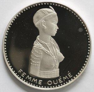 reverse: Dahomey. 500 Franchi 1971. Ag 999.