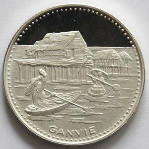 reverse: Dahomey. 100 Franchi 1971. Ag 999.