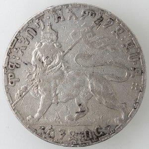 reverse: Etiopia, Menelik II. 1889-1913. Birr 1895. Ag.