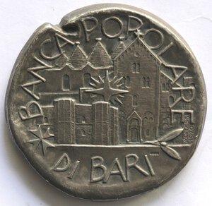 obverse: Medaglie. Bari.Banca Popolare.Medaglia 1970 riproducente una moneta classica. Ag.