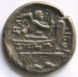 reverse: Medaglie. Bari.Banca Popolare.Medaglia 1970 riproducente una moneta classica. Ag.