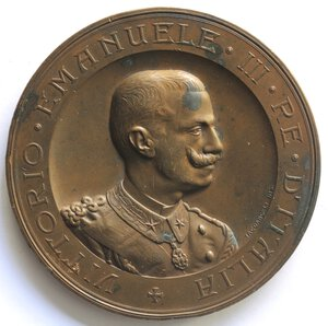 obverse: Medaglie. Napoli. Vittorio Emanuele III. 1900-1943.Medaglia per l Esposizione Nazionale D Igiene 1900 a Napoli. Ae.