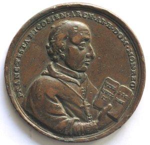 obverse: Medaglie.Palermo.Francesco Testa. 1704-1773, Arcivescovo.Medaglia 1771.Ae.