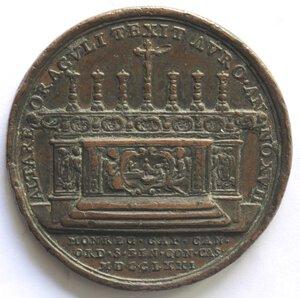 reverse: Medaglie.Palermo.Francesco Testa. 1704-1773, Arcivescovo.Medaglia 1771.Ae.