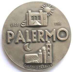obverse: Medaglie. Palermo. Medaglia 1986. Prudente, Augusta, Fedele. Ag.
