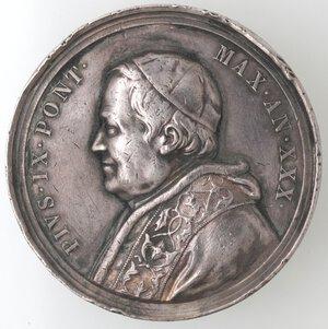 obverse: Medaglie. Roma. Pio IX. 1846-1878. Medaglia anno XXX. 1875. Ospizio per i poveri. Ag.