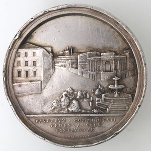 reverse: Medaglie. Roma. Pio IX. 1846-1878. Medaglia anno XXX. 1875. Ospizio per i poveri. Ag.