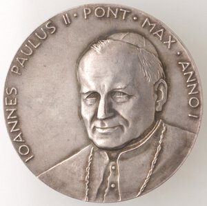 obverse: Medaglie. Roma.Giovanni Paolo II. 1978-2005, Karol Wojtyla.Medaglia 1978, A. I.Ag.