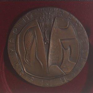 reverse: Medaglie. San Marino.Medaglia 1972. Ae. Centenario della morte di Giuseppe Mazzini.