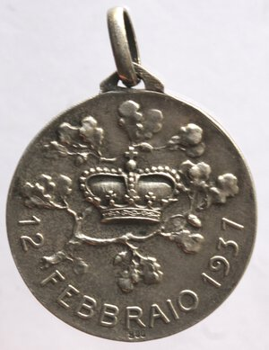 reverse: Medaglie. Vittorio Emanuele III. 1900-1943. Medaglia 1937 per la nascita di Vittorio Emanuele di Savoia. Ag.