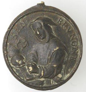 obverse: Medaglie. Medaglia religiosa. XVIII sec. San Brunone. Br.