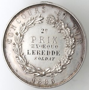reverse: Medaglie. Francia. Medaglia 1883. Ag.