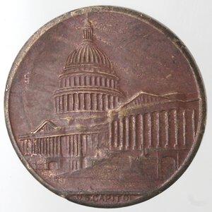 obverse: Medaglie. USA. Medaglia celebrativa Washinghton Capitol. Ae.