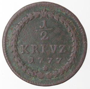 reverse: Germania-Pfalz.Karl Theodor. Principe Elettore. 1742-1799.1/2 Kreutzer 1777.Ae.