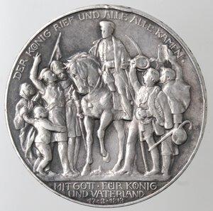 reverse: Germania-Prussia.Guglielmo II. 1888-1918.3 marchi 1913.Ag.