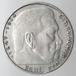 obverse: Germania. Terzo Reich. 1933-1945. 2 Marchi 1938. Ag.