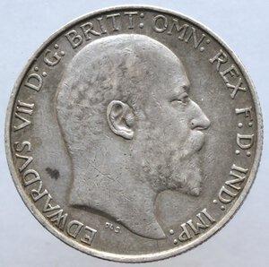 obverse: Gran Bretagna. Edoardo VII. 1901-1910. Fiorino da due scellini 1903. Ag 925.