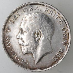 obverse: Gran Bretagna. Giorgio V. 1910-1936. Mezza Corona 1914. Ag.