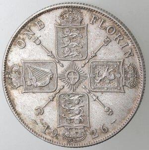 reverse: Gran Bretagna. Giorgio V. 1910-1936. Fiorino 1926. Ag.