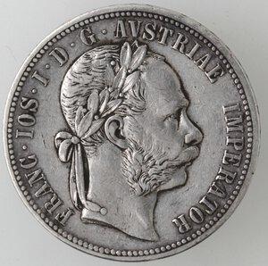 obverse: Austria. Francesco Giuseppe. 1848-1916. Fiorino 1878. Ag.
