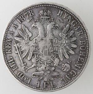 reverse: Austria. Francesco Giuseppe. 1848-1916. Fiorino 1878. Ag.