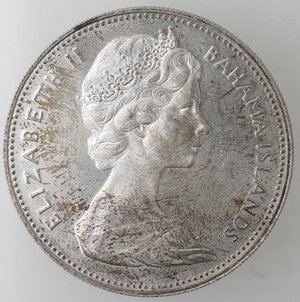 obverse: Bahamas.Elisabetta II.2 Dollari 1970. Ag 925.