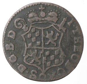 obverse: Belgio. Liegi. John Theodore. Liard 1746. Ae.