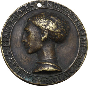 Leonello d Este (1407-1450), marchese di Ferrara. Medaglia