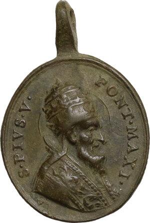 obverse: Pio V (1566-1572), Antonio Michele Ghislieri.. Medaglietta portativa, XVII sec
