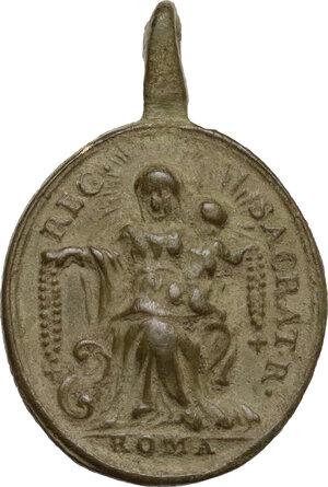 reverse: Pio V (1566-1572), Antonio Michele Ghislieri.. Medaglietta portativa, XVII sec