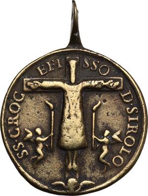 obverse: Medaglia devozionale con la raffigurazione del SS. Crocifisso di Sirolo, XVIII sec
