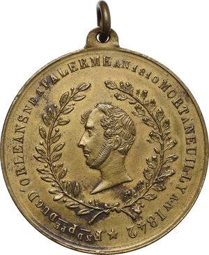 obverse: Ferdiando Filippo d Orleans (1810-1842). Medaglia 1842 per la morte