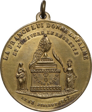 reverse: Ferdiando Filippo d Orleans (1810-1842). Medaglia 1842 per la morte