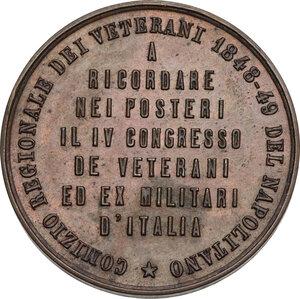 reverse: Medaglia per il comizio dei veterani a Napoli, 1848-49