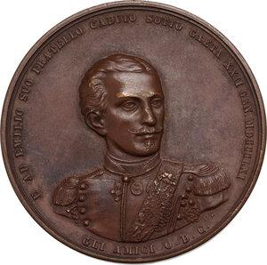 obverse: Alfredo ed Emilio Savio. Medaglia a ricordo dei fratelli Alfredo ed Emilio Savio caduti rispettivamente ad Ancona il 28 settembre 1860 e a Gaeta il 22 gennaio 1861