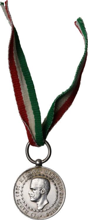 obverse: Vittorio Emanuele III (1900-1943). Medaglia 35° Reggimento Fanteria, per le Campagne 1859 - 1860-61 - 1866 - 1870. RICORDO