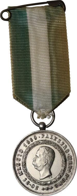 obverse: Umberto I (1878-1900).. Medaglia 9° Reggimento Fanteria RICORDO