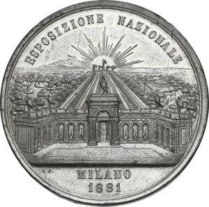 reverse: Medaglia 1881 per l Esposizione Nazionale di Milano