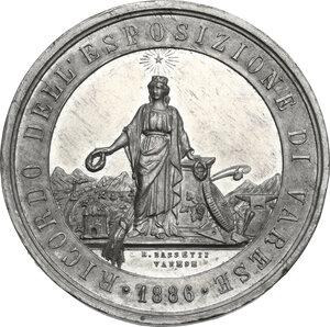 obverse: Medaglia 1886 a ricordo dell Esposizione di Varese