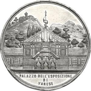 reverse: Medaglia 1886 a ricordo dell Esposizione di Varese
